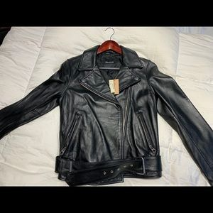 NWT Madewell Genuine Moto Leather Jacket